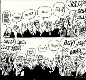 How the stock market works - credits: unknown